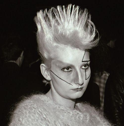 Jordan, (Pamela Rooke), at the Marquee Club Wardour Street London, 1977 via