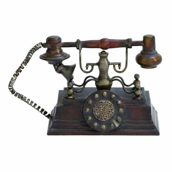 Decorative Vintage Rustic Telephone