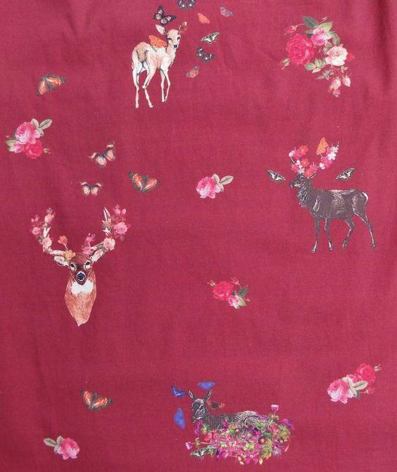 vestido veados floridos (novo) - vestidos kitson