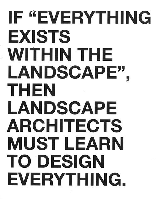 LANDSCAPE Architecture Design Methodology