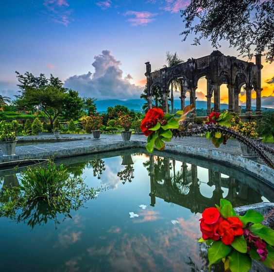 Ujung water palace in bali indonesia bali pinterest for Bali indonesia places to stay