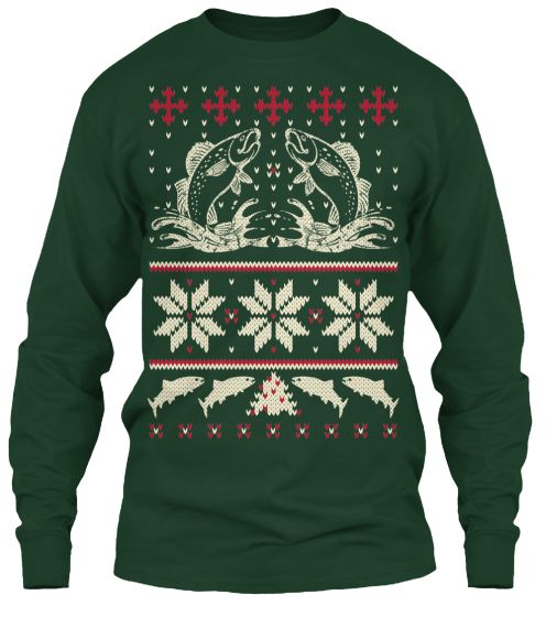 Ugly fishing sweater teespring fishing christmas gifts for Fishing ugly christmas sweater