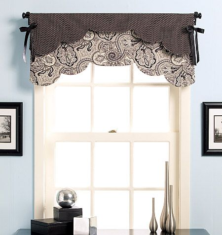 Valances curtains for kitchen and patterns on pinterest - Kitchen valance patterns ...