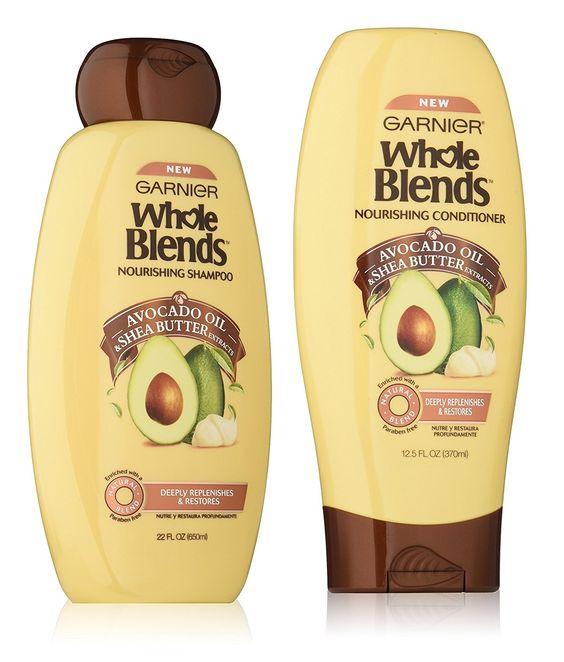Garnier Whole Blends Nourishing Avocado Oil Shampoo and conditioner