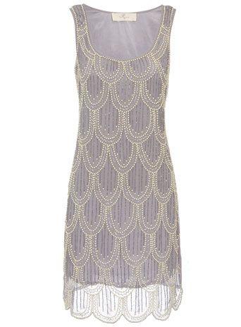 Scalloped beaded dress