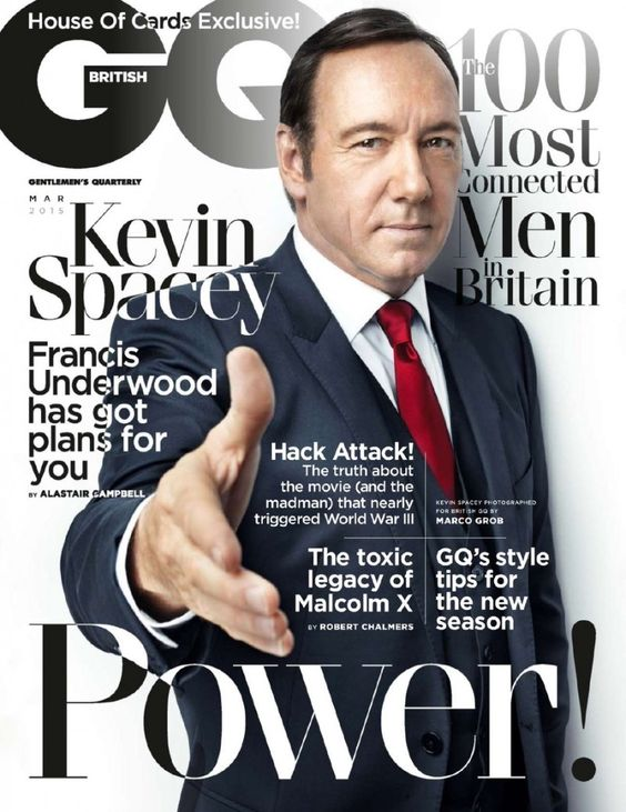 Typography house of cards and kevin o 39 leary on pinterest for Gq magazine cover template