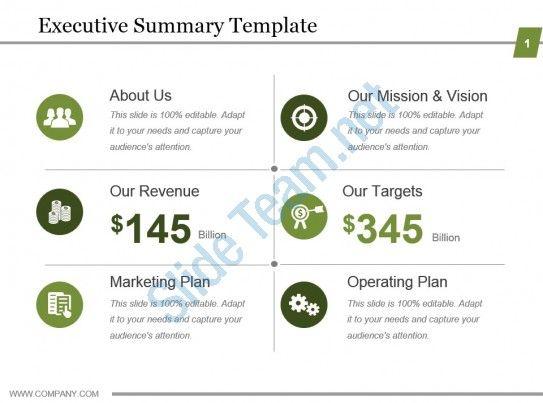 Executive Summary Template Powerpoint Show Slide01 Executive