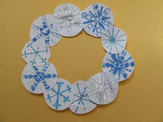 hópelyhes téli dekoráció