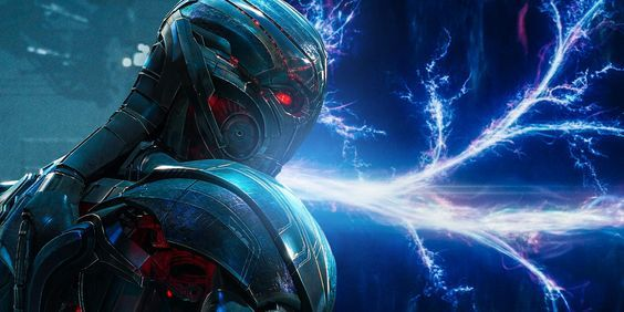 A still of Ultron along with various timelines