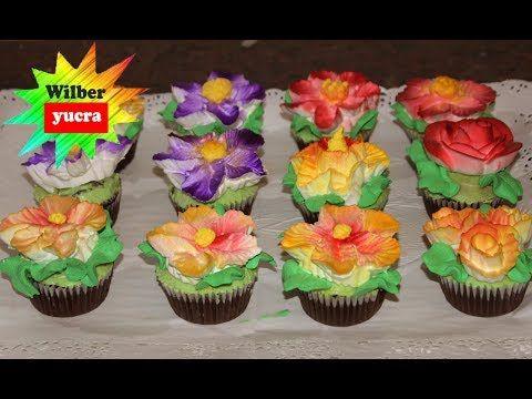 Como Hacer Flores En Crema Chantilly Para Decorar Cupcakes Y