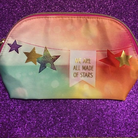 """Make-up bag Very cute colorful make-up bag from Bath and Body Works. It says """"We are all made of stars"""", and it's never been used, brand new. Bath and Body Works Bags Cosmetic Bags & Cases"""