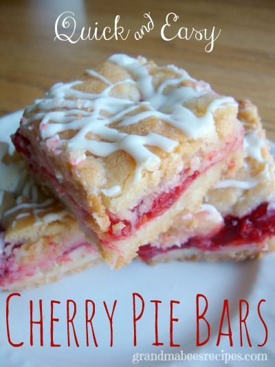 One of the easiest potluck desserts I make are these Quick and Easy Cherry Pie Bars.