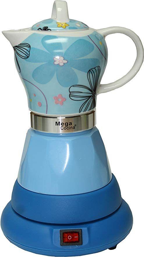 Electric Cordless Espresso Cuban Coffee Maker 4 Cups Color Blue Review Cuban Coffee Maker Cuban Coffee Coffee Maker