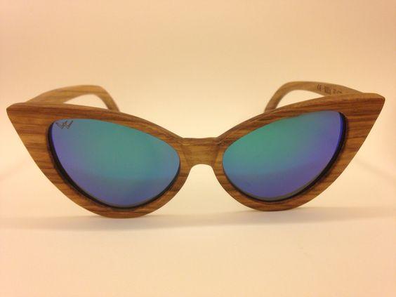 Gafas de madera cateyes cristales polarizados y proteccion UV400. Disponibles en www.woodbeach.es