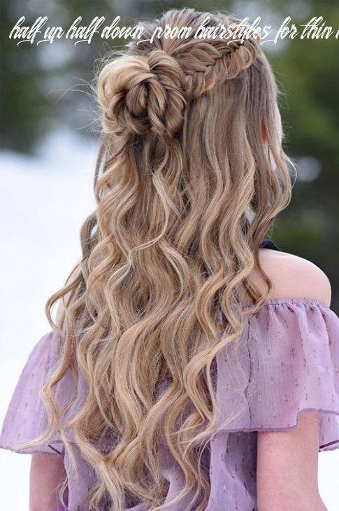 12 Half Up Half Down Prom Hairstyles For Thin Hair Model Rambut Sedang Rambut Panjang Rambut Keriting