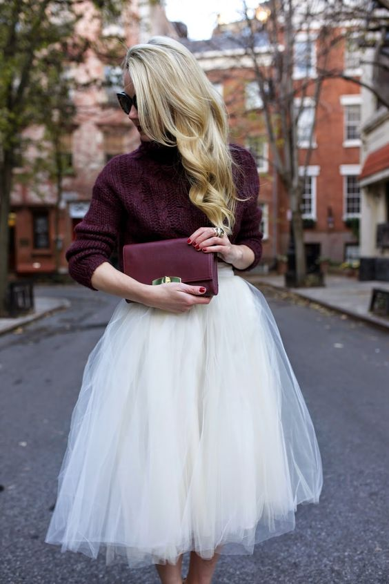 Tulle skirt: Get ideas from celebrities and street style to create your own look! -http://secretfromus.com/