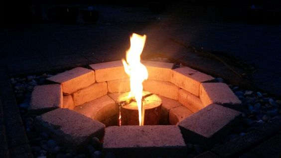 Home made fire pit!