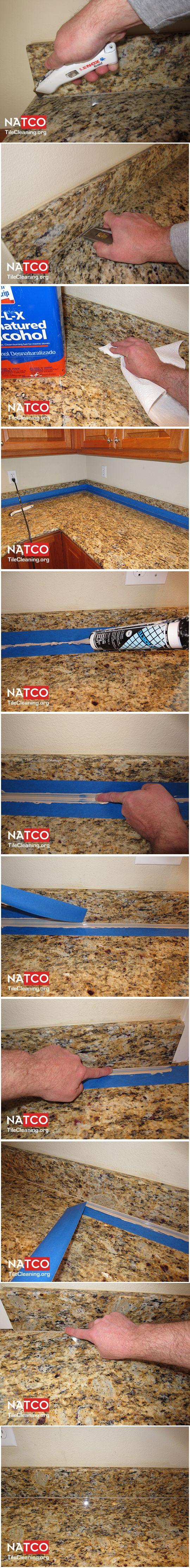 Professional Recaulking Procedure For Granite Countertops How To Clean Granite Cleaning Granite Countertops Organize Bathroom Countertop
