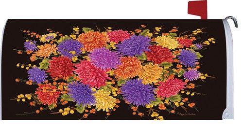 Fall Mums Bouquet Mailbox Cover