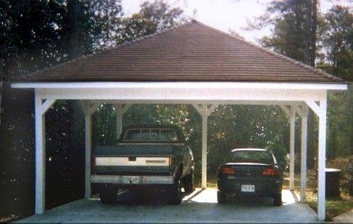 Hip roof carport by billie landscaping pinterest for Double hip roof design