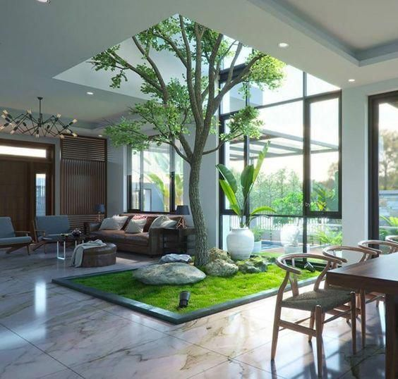 16 Indoor Garden Ideas You Will Fall For Homelysmart In 2020 House Interior Interior Garden Modern House Design