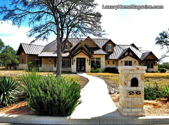 Hill Country Contemporary Exterior Stucco Stone Metal Roof