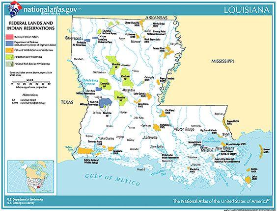 Map Louisiana Natural Resources Vacaction Pinterest - Us natural resources map