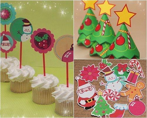Ideas imprimibles para decorar e invitar en navidad - Ideas para decorar en navidad ...
