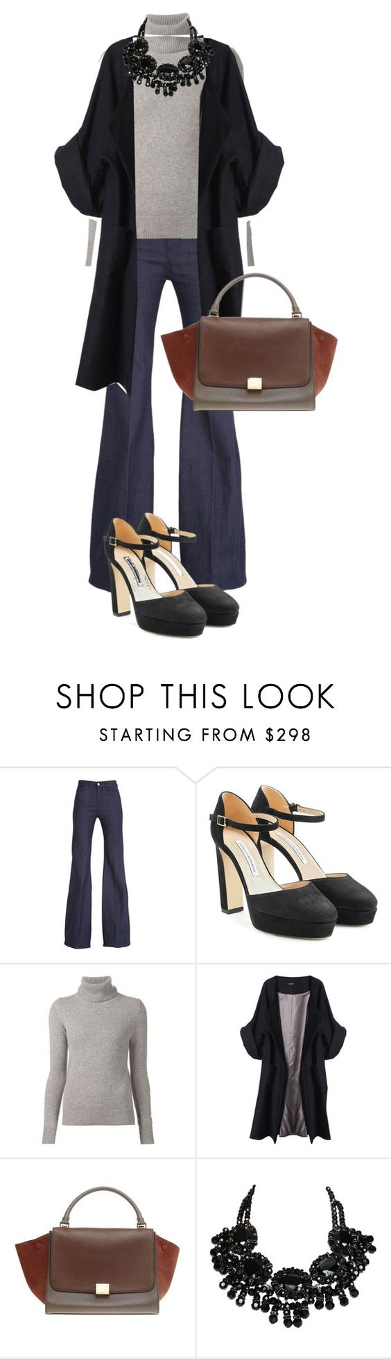 """""""Без названия #424"""" by berlinmoskva ❤ liked on Polyvore featuring 7 For All Mankind, Diane Von Furstenberg, Chloé and Merci Me London"""