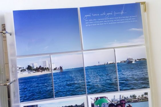 Project LIFE idea: 1. Take a photo and enlarge it to 12X8 to make the spread above. 2. I like the script font and text in the sky. I great way to use a sky photo! Just add something inspirational!