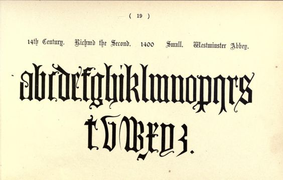 1914 - The book of ornamental alphabets, ancient and mediaeval, from the 8th century. With numerals, including Gothic; church text, large and small; German arabesque; initials for illumination, monograms, crosses, &c., for the use of architectural and engineering draughtsmen, masons, decorative painters, lithographers, engravers, carvers ..  by Delamotte, F. (Freeman), 1814-1862