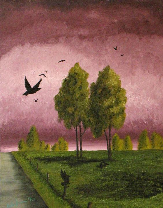 Original oils on 16x20 stretched canvas surreal by ArtByKatieK, $93.00