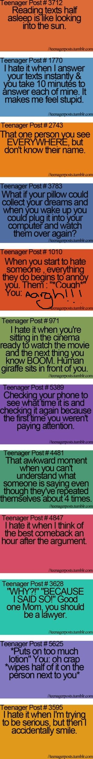 soo true Hahahah! omgg I do the time one all the time!! i just zone out ahahah