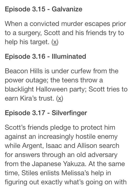 Teen Wolf Season 3B episode plots - SPOILERS -