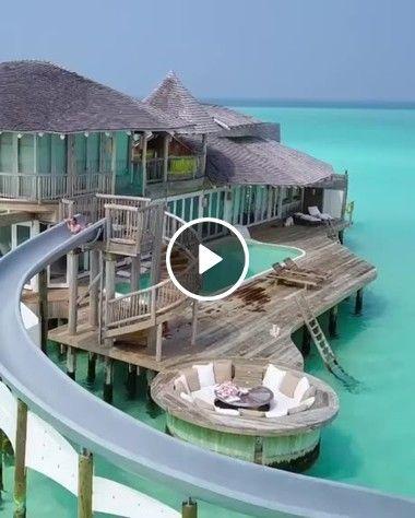Grande tubo água das maldivas
