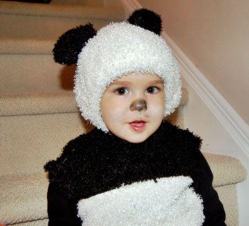 Oso panda el disfraz más dulce.