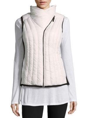 CALVIN KLEIN COLLECTION Quilted Zippered Vest. #calvinkleincollection #cloth #vest