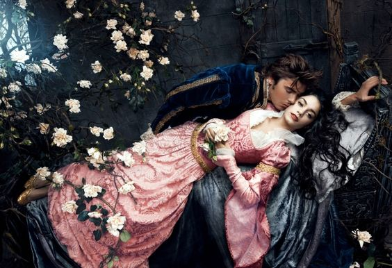 Annie Leibovitz: Disney Dream Portrait Series - Zac Efron Vanessa Hudgens (Prince Phillip Princess Aurora):