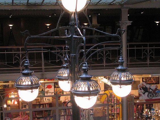 Art Nouveau light fixtures. IMG_1929.JPG  Le Centre Belge de la Bande Dessinée. / The Belgian Comic Strip Centre