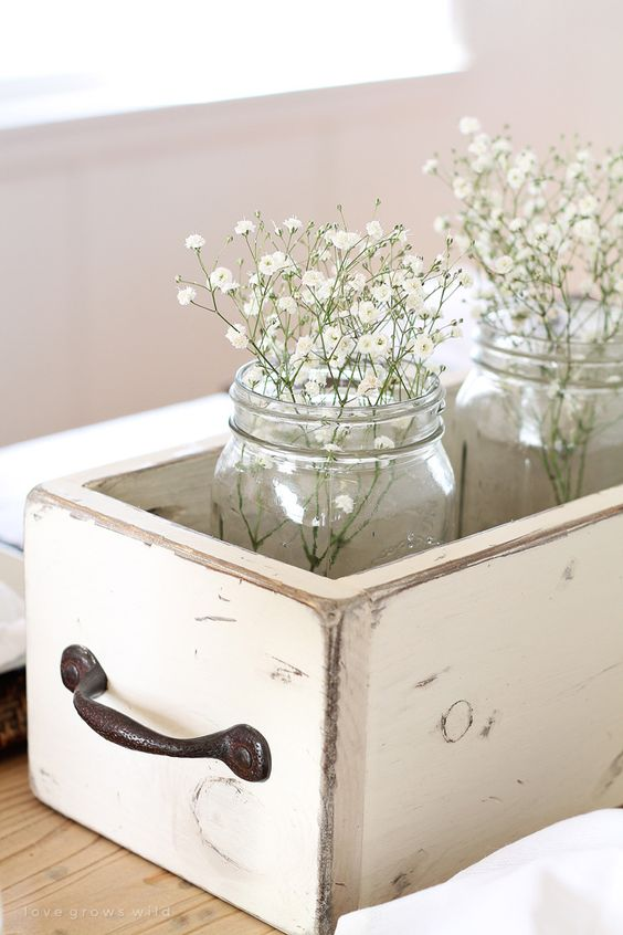 Update your home for spring with these simple, inexpensive ideas from LoveGrowsWild.com - click for more photos!: