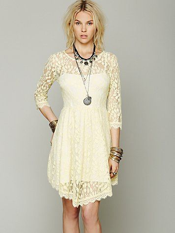 Free People Floral Mesh Lace Dress on Wanelo
