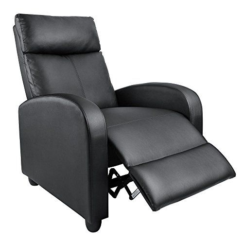 Homall Manual Recliner Chair Padded Pu Leather Home Theater