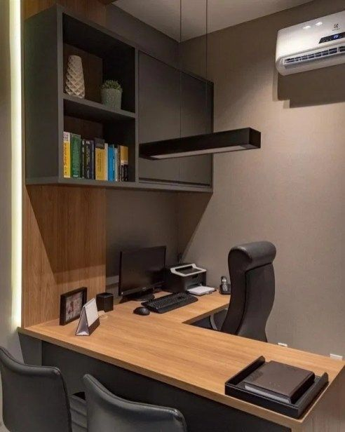 Astonishing Small Home Office Design Ideas To Try Today 10 In 2020 Office Furniture Layout Home Office Design Modern Office Design