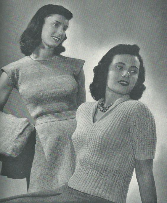 Junior League & Sorority Sweaters from Styles by Beehive c.1940s
