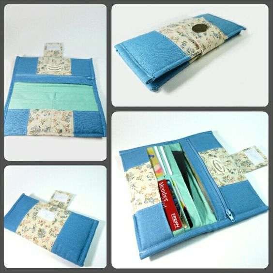 Woman bifold wallet Find more at : www.bearberryhandmade.etsy.com