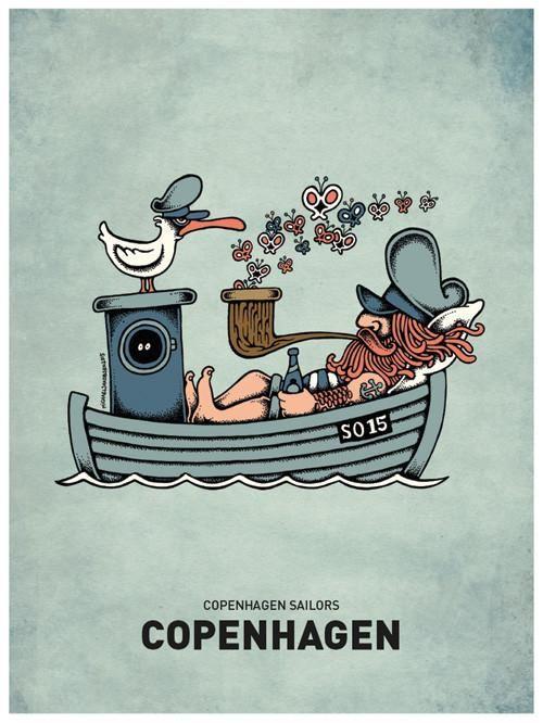 Butterfly Ship Plakater Design Copenhagen