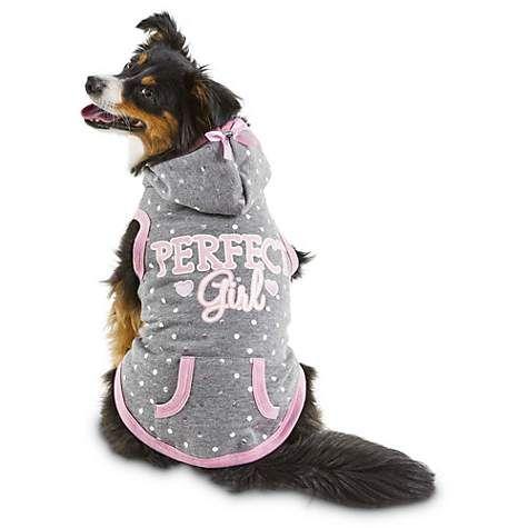 Bond Co Grey Perfect Girl Dog Hoodie Petco