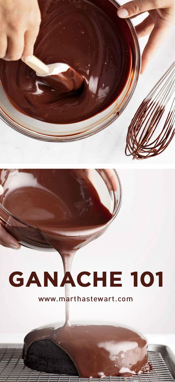 Thanks Martha Stewart! You make ganache accessible and beautiful ! Ganache 101 | Martha Stewart Living - Chop. Pour. Stir. Those three basic steps are all there is to making an irresistible batch of ganache.