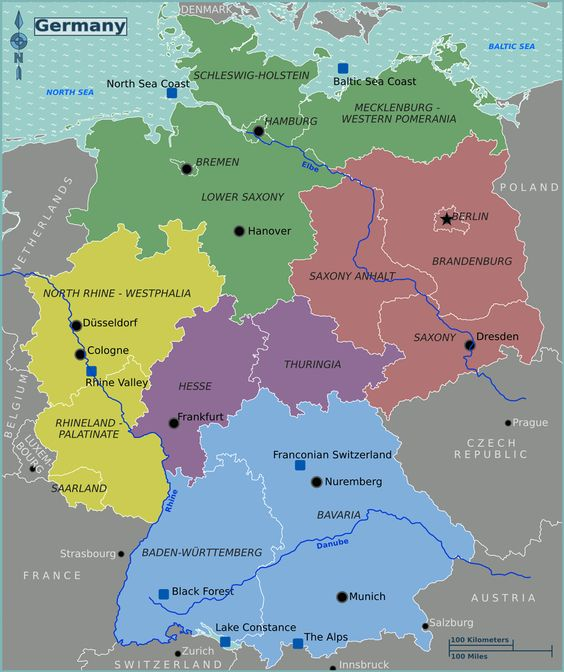 map of germany maps of germany where is the germany germany regions map