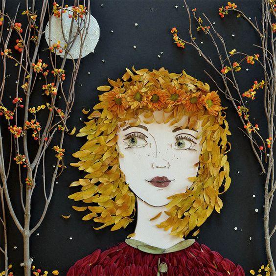 """Hazel"" Flower Face Print:"